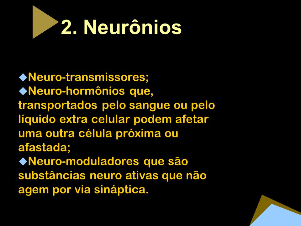 2. Neurônios Neuro-transmissores;