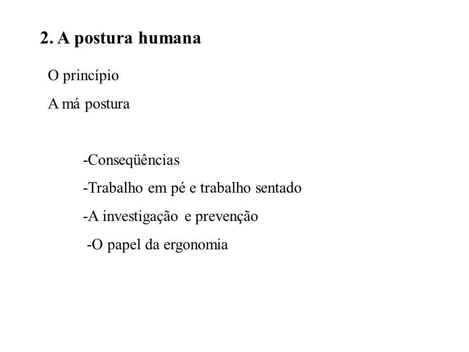 2. A postura humana O princípio A má postura -Conseqüências