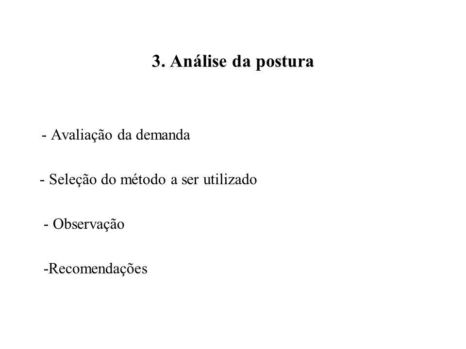 3. Análise da postura - Seleção do método a ser utilizado - Observação