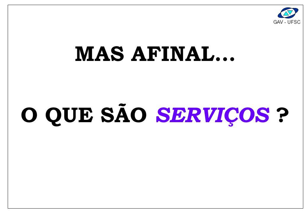 MAS AFINAL... O QUE SÃO SERVIÇOS
