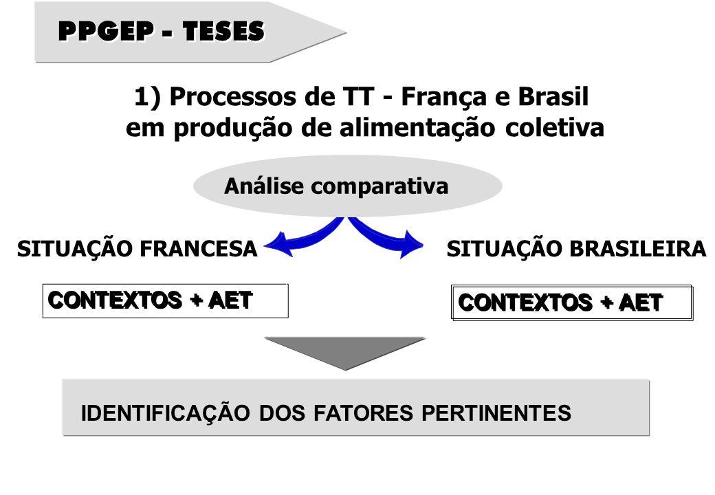 PPGEP - TESES 1) Processos de TT - França e Brasil