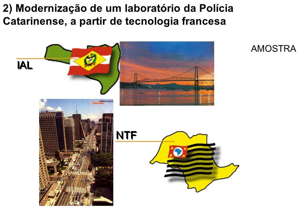 2) Modernização de um laboratório da Polícia Catarinense, a partir de tecnologia francesa