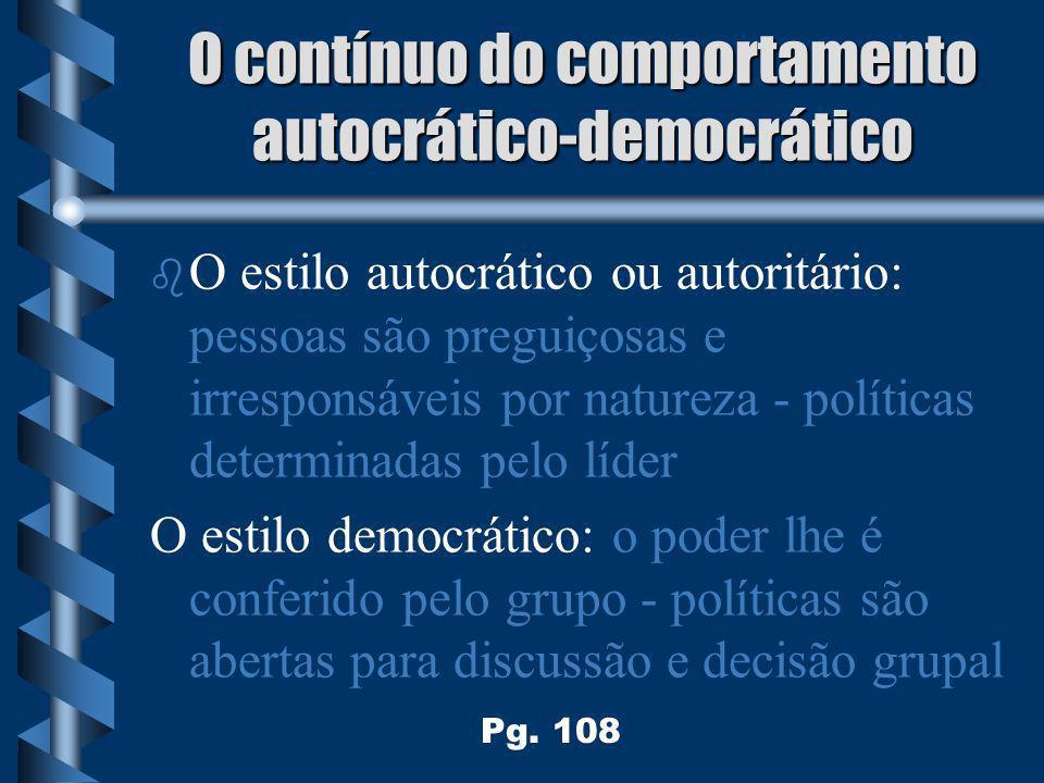 O contínuo do comportamento autocrático-democrático