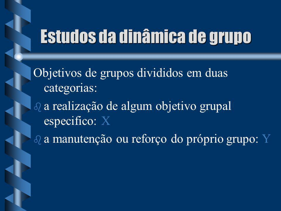 Estudos da dinâmica de grupo