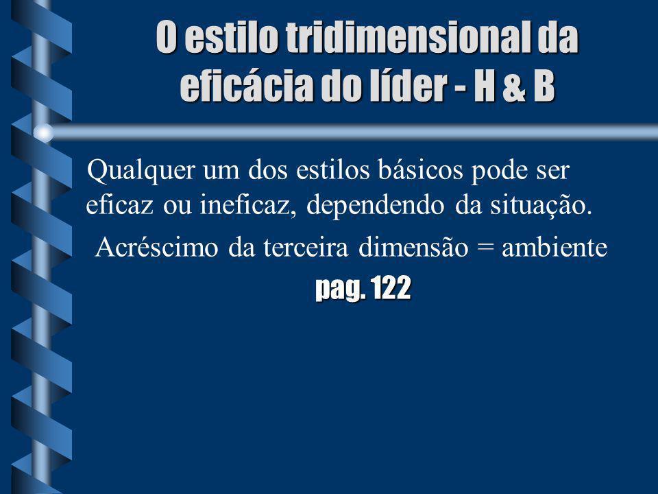 O estilo tridimensional da eficácia do líder - H & B