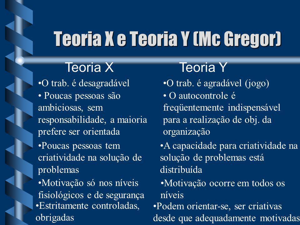 Teoria X e Teoria Y (Mc Gregor)