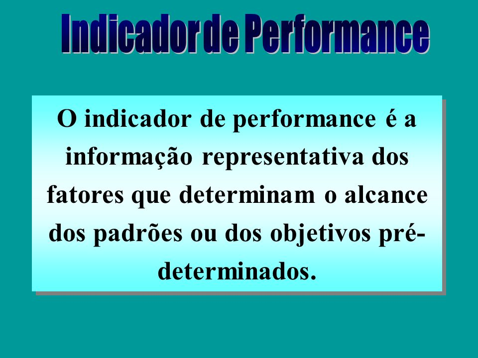 Indicador de Performance