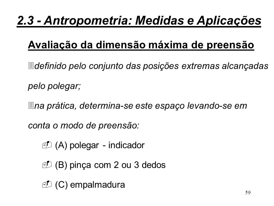 2.3 - Antropometria: Medidas e Aplicações