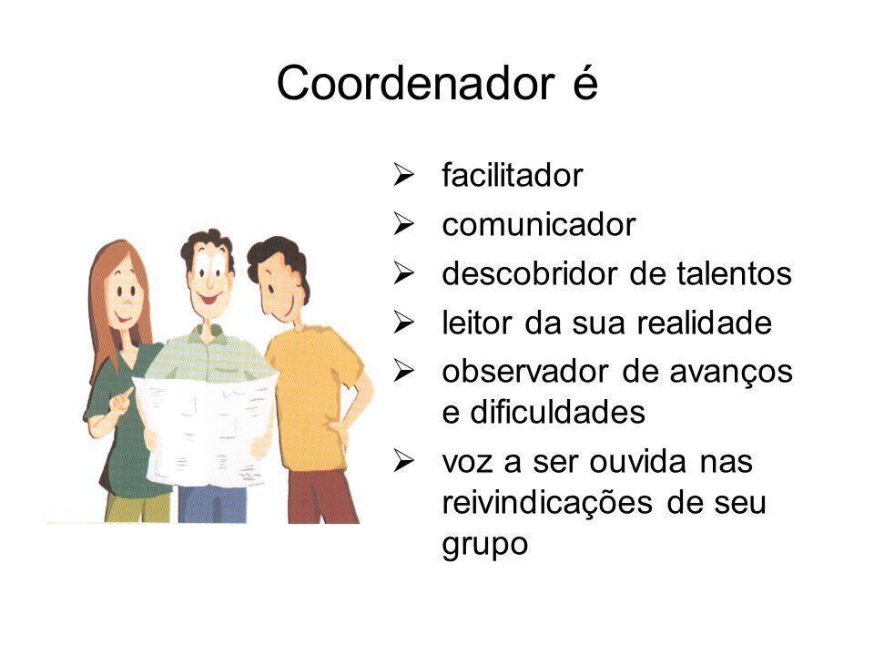 Coordenador é facilitador comunicador descobridor de talentos