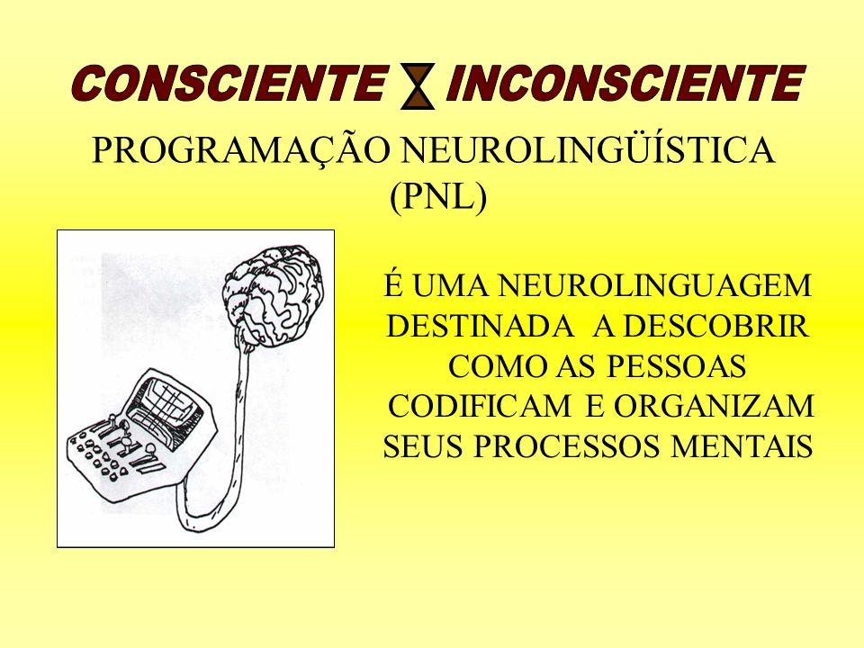 CONSCIENTE INCONSCIENTE PROGRAMAÇÃO NEUROLINGÜÍSTICA (PNL)