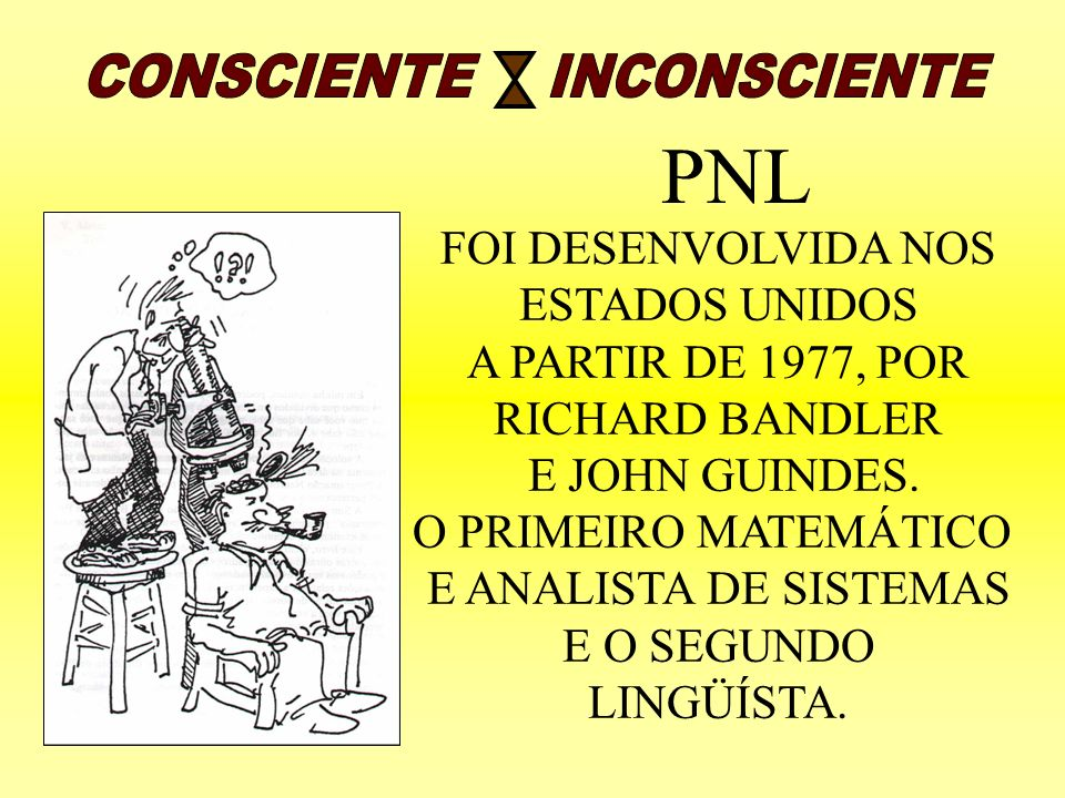 PNL CONSCIENTE INCONSCIENTE FOI DESENVOLVIDA NOS ESTADOS UNIDOS