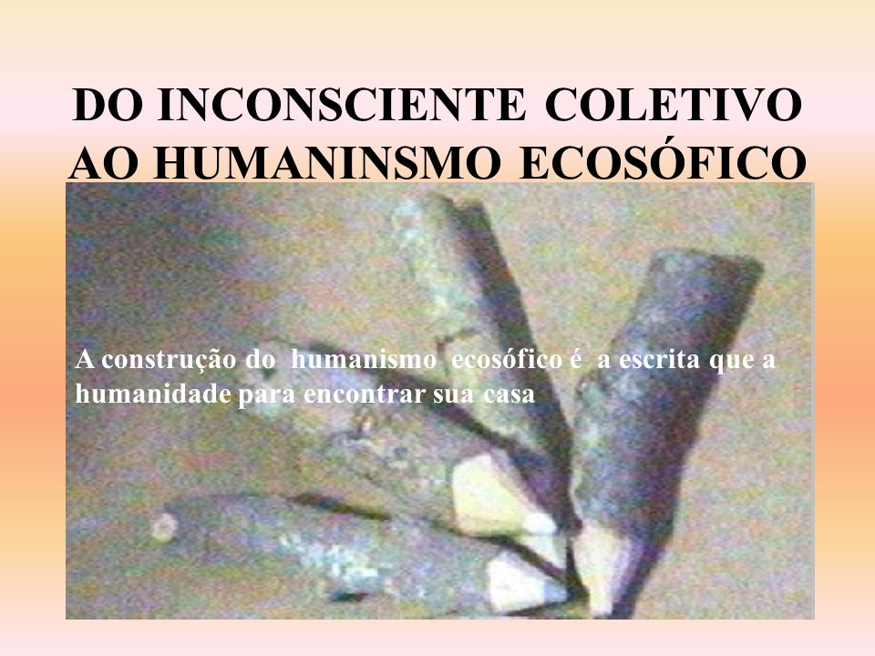 DO INCONSCIENTE COLETIVO AO HUMANINSMO ECOSÓFICO
