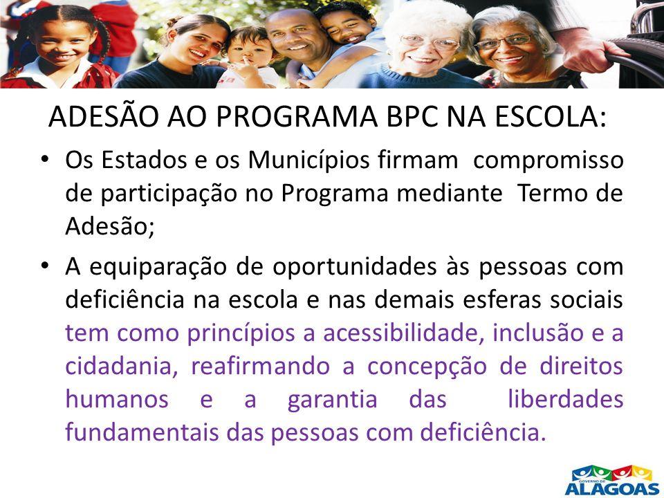 ADESÃO AO PROGRAMA BPC NA ESCOLA:
