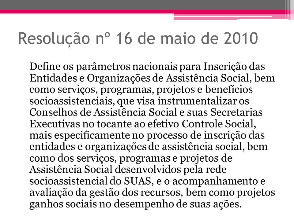 Resolução nº 16 de maio de 2010
