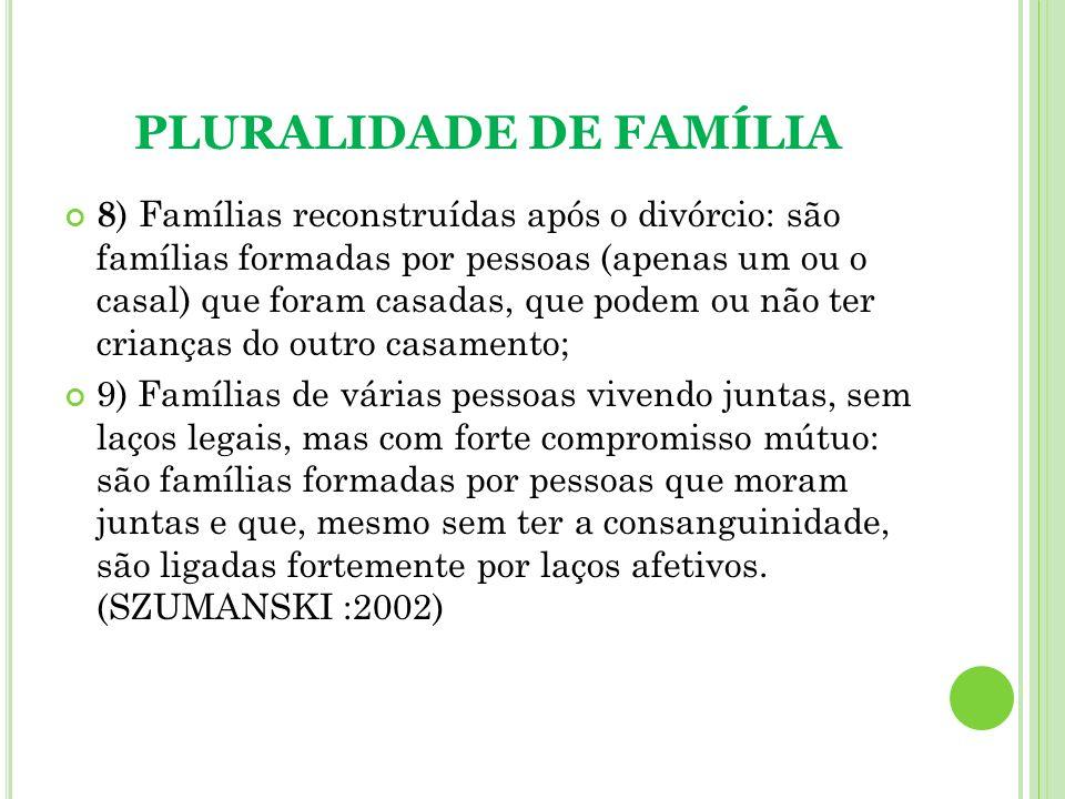 PLURALIDADE DE FAMÍLIA