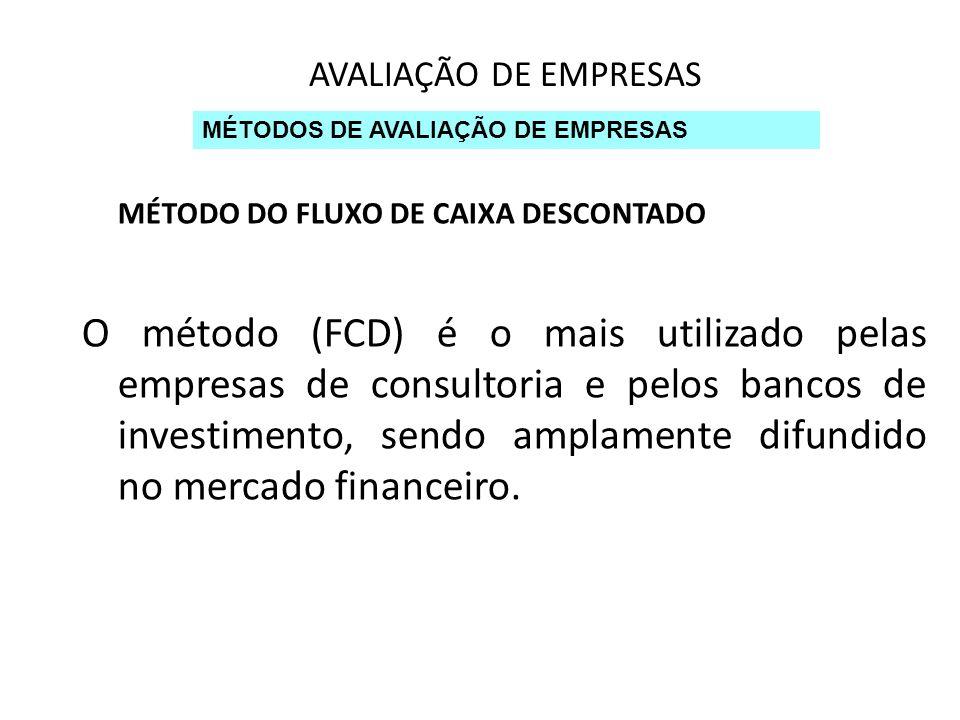 MÉTODO DO FLUXO DE CAIXA DESCONTADO
