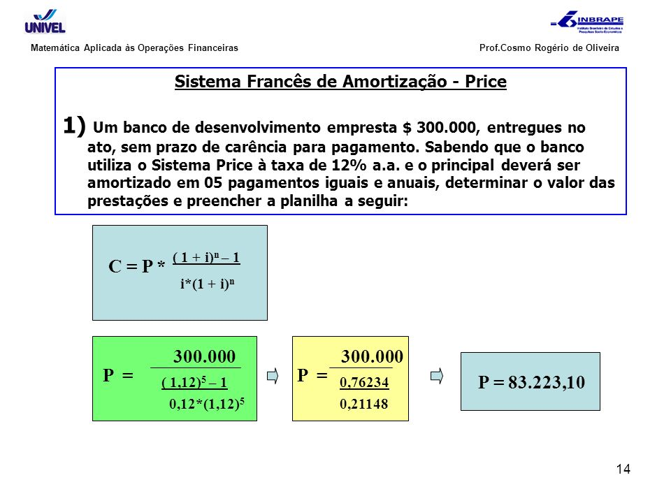 Sistema Francês de Amortização - Price
