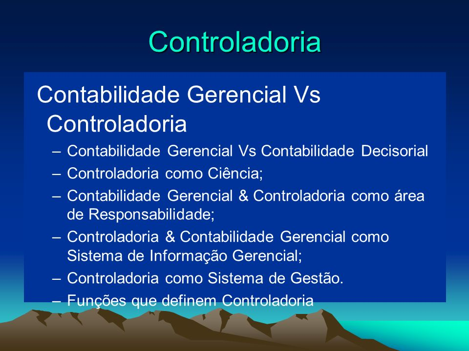 Contabilidade Gerencial Vs Controladoria