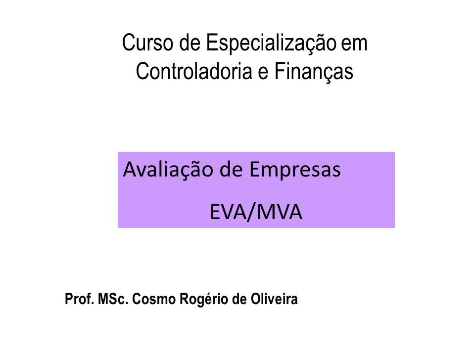 Prof. MSc. Cosmo Rogério de Oliveira