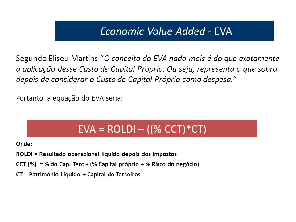 Economic Value Added - EVA