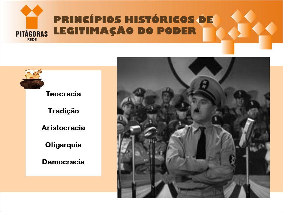 PRINCÍPIOS HISTÓRICOS DE LEGITIMAÇÃO DO PODER
