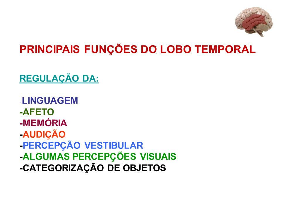 PRINCIPAIS FUNÇÕES DO LOBO TEMPORAL