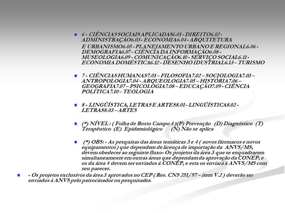 6 - CIÊNCIAS SOCIAIS APLICADAS6. 01 - DIREITO6. 02 - ADMINISTRAÇÃO6
