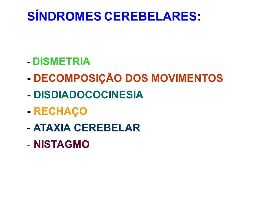 SÍNDROMES CEREBELARES: