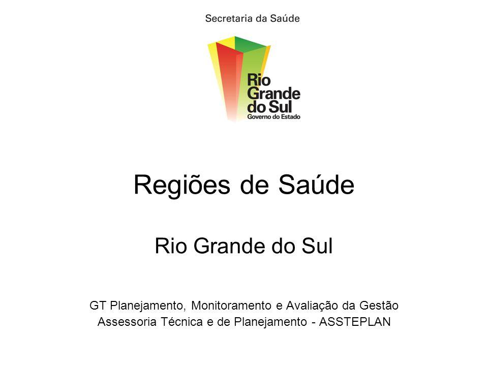 Regiões de Saúde Rio Grande do Sul