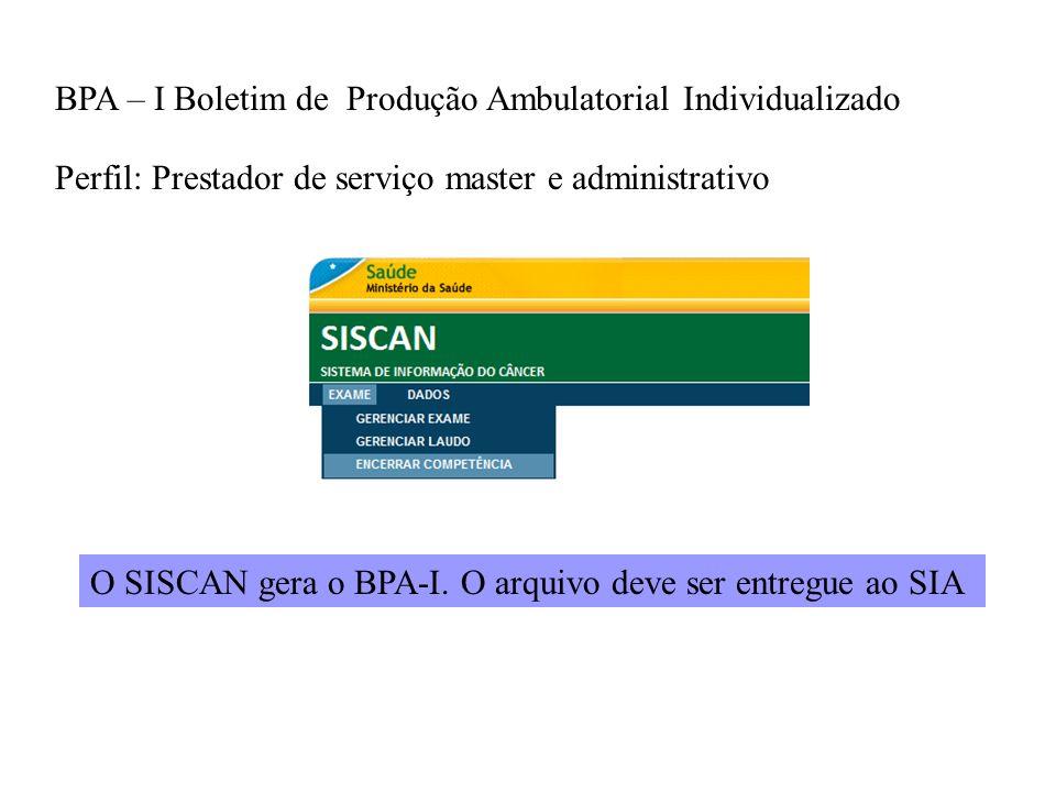 BPA – I Boletim de Produção Ambulatorial Individualizado
