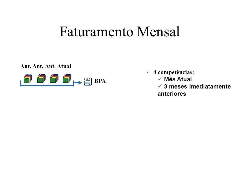 Faturamento Mensal Ant. Ant. Ant. Atual 4 competências: Mês Atual