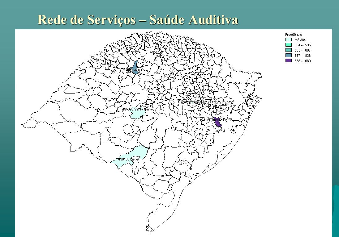 Rede de Serviços – Saúde Auditiva