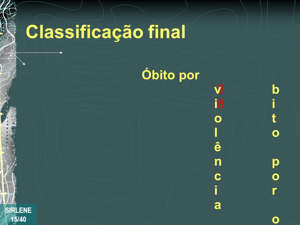 Classificação final C o n f i r m a d o 3 3 8 P r o v á v e l 131