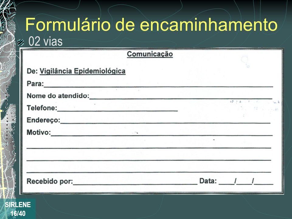 Formulário de encaminhamento