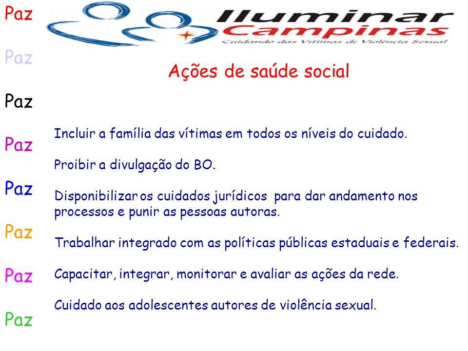 Paz Ações de saúde social
