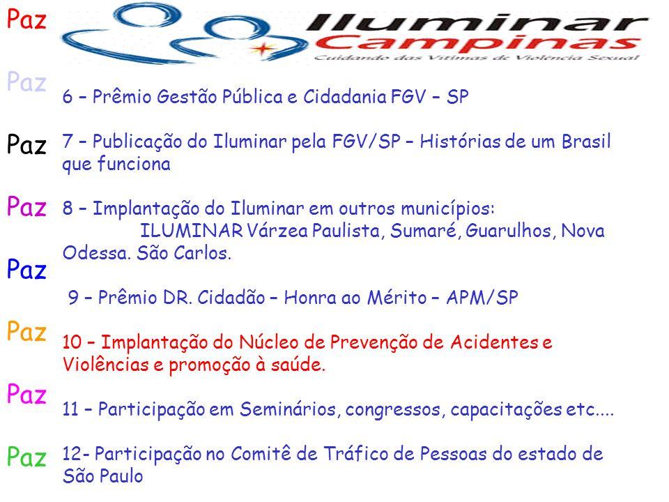 Paz 6 – Prêmio Gestão Pública e Cidadania FGV – SP