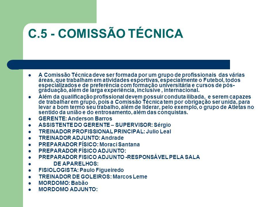 C.5 - COMISSÃO TÉCNICA