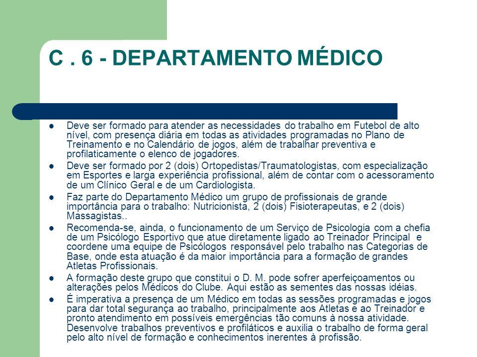C . 6 - DEPARTAMENTO MÉDICO