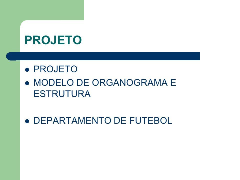 PROJETO PROJETO MODELO DE ORGANOGRAMA E ESTRUTURA