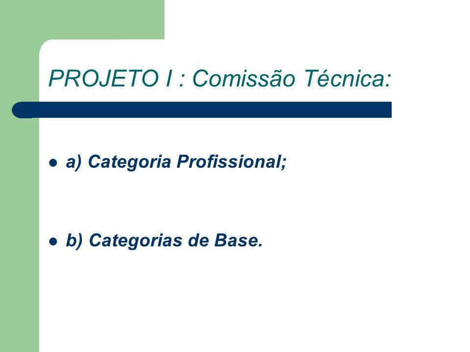PROJETO I : Comissão Técnica: