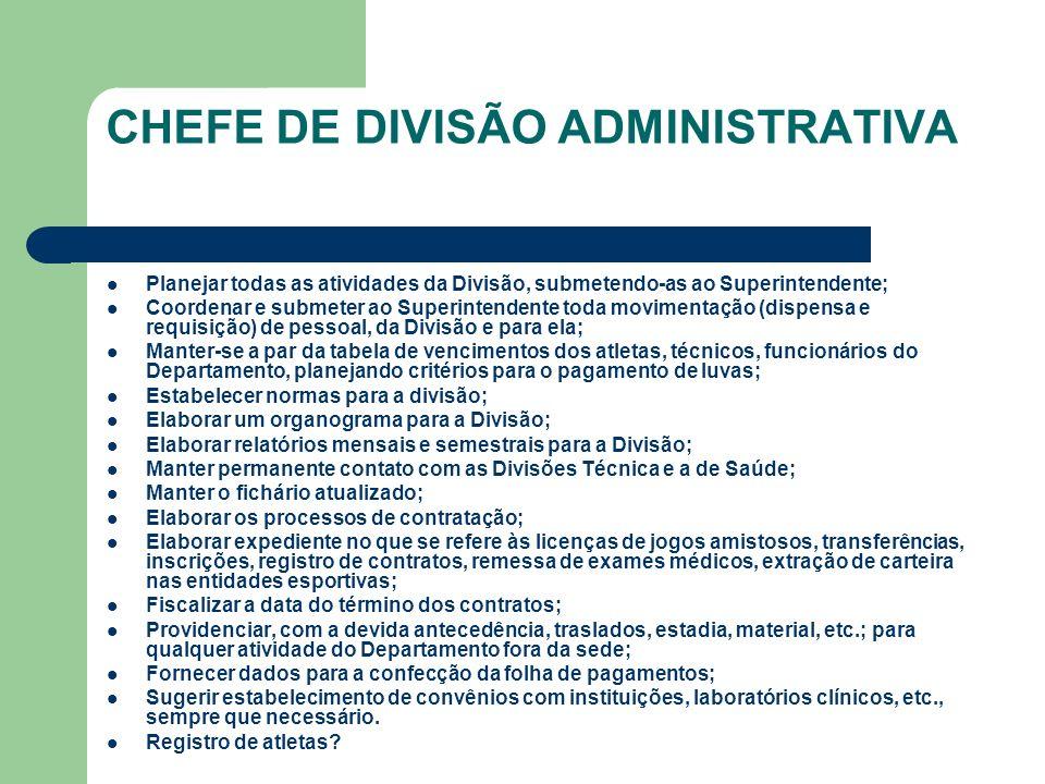 CHEFE DE DIVISÃO ADMINISTRATIVA