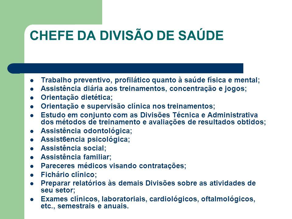 CHEFE DA DIVISÃO DE SAÚDE