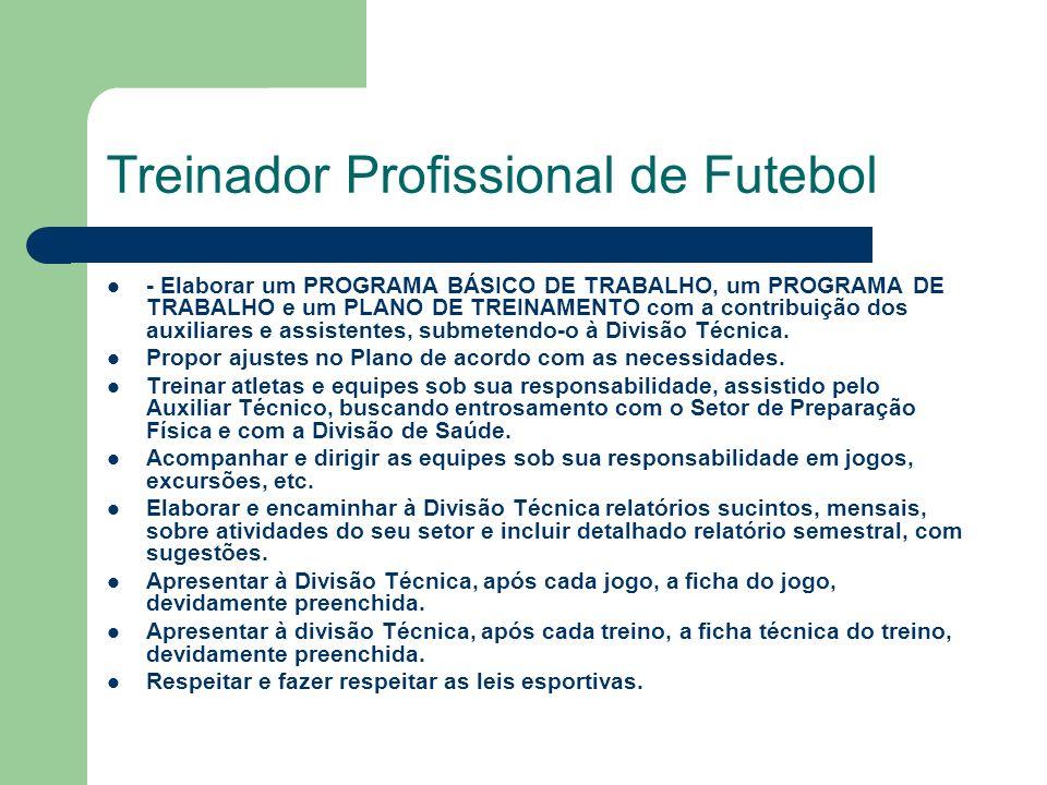 Treinador Profissional de Futebol