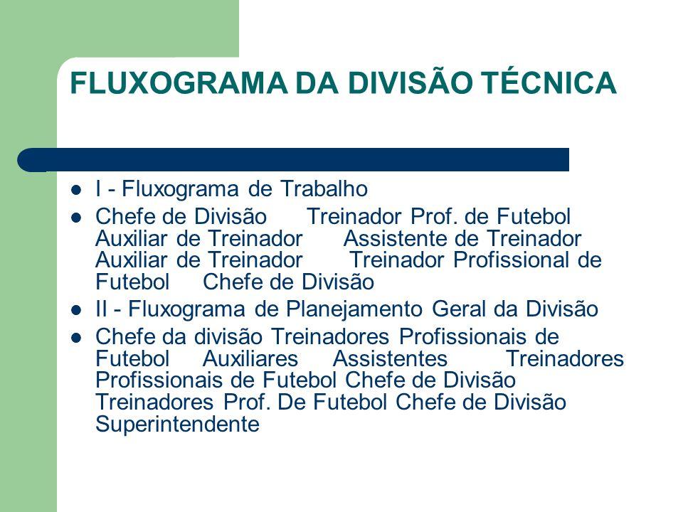 FLUXOGRAMA DA DIVISÃO TÉCNICA