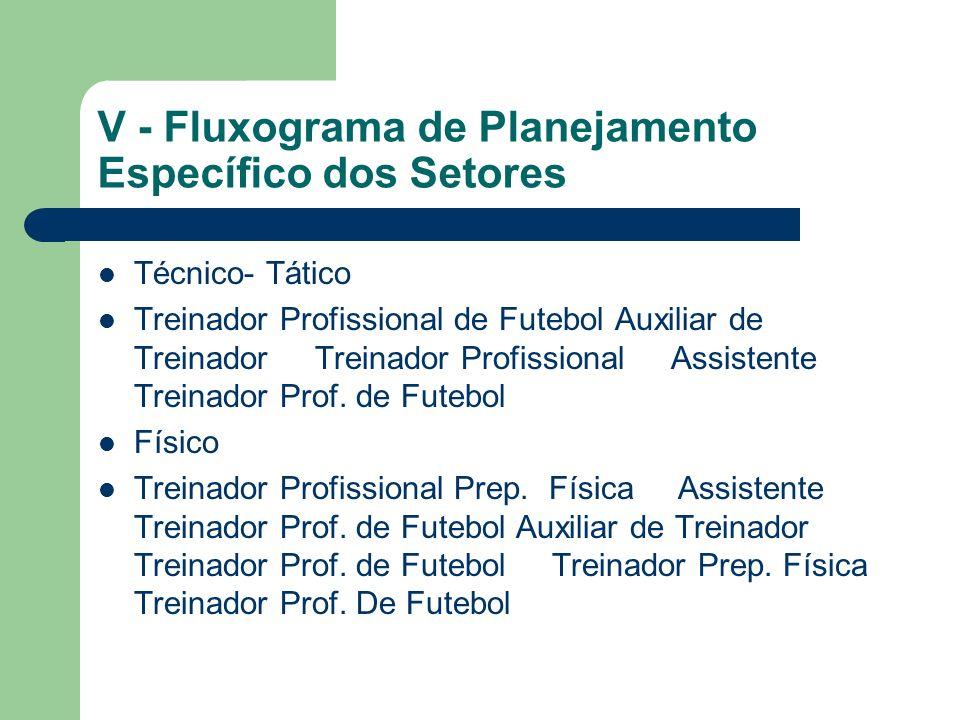 V - Fluxograma de Planejamento Específico dos Setores