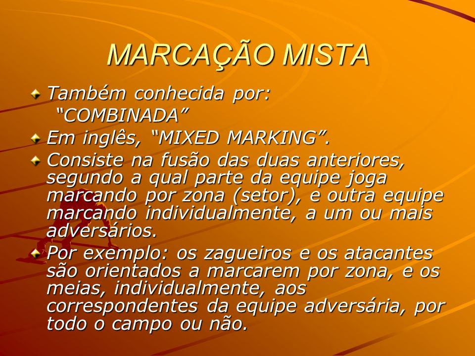 MARCAÇÃO MISTA Também conhecida por: COMBINADA