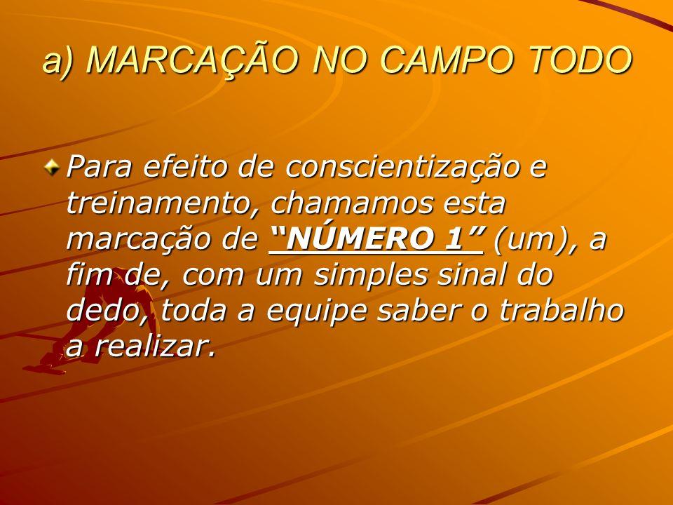 a) MARCAÇÃO NO CAMPO TODO