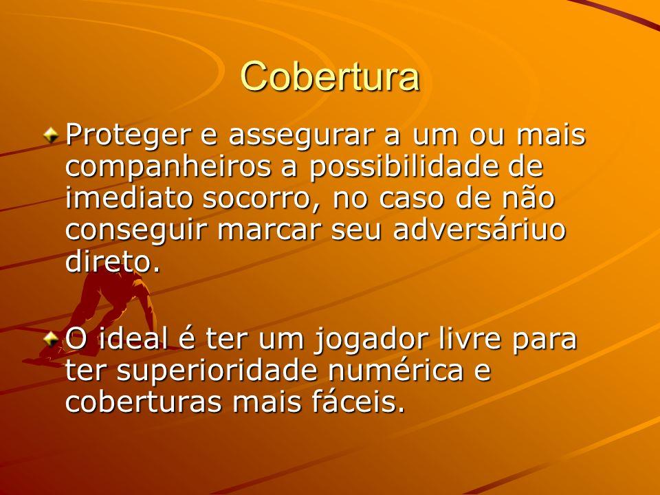 CoberturaProteger e assegurar a um ou mais companheiros a possibilidade de imediato socorro, no caso de não conseguir marcar seu adversáriuo direto.