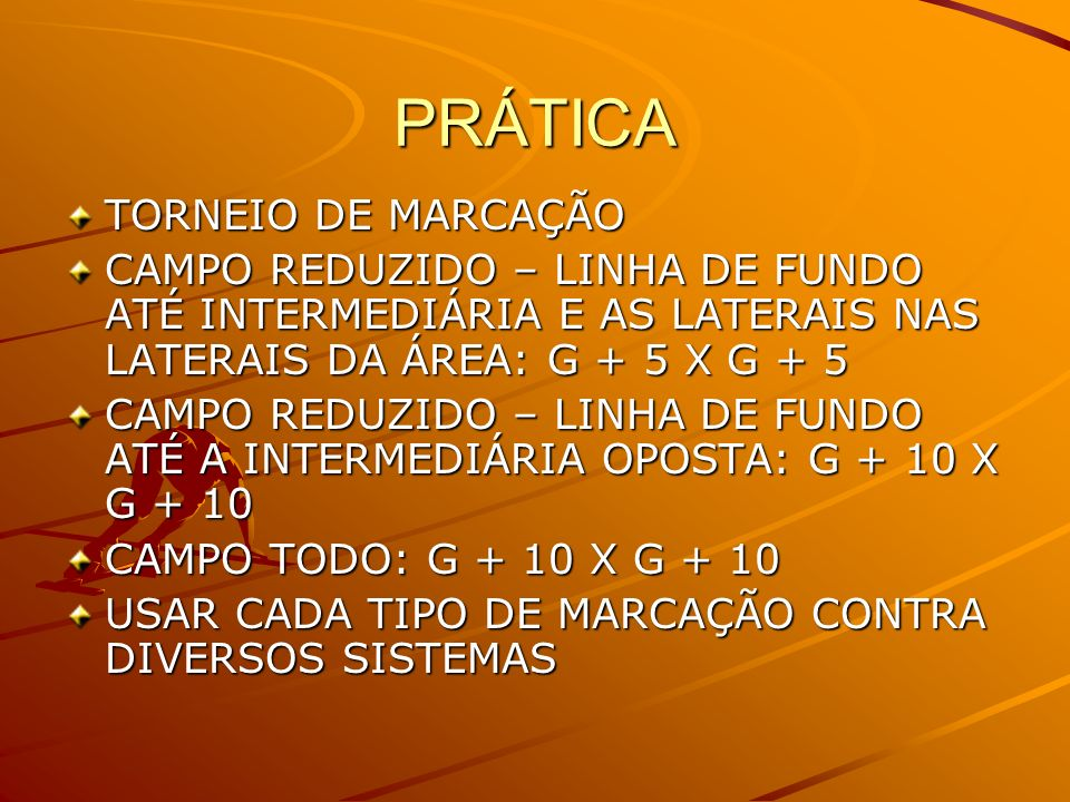 PRÁTICA TORNEIO DE MARCAÇÃO