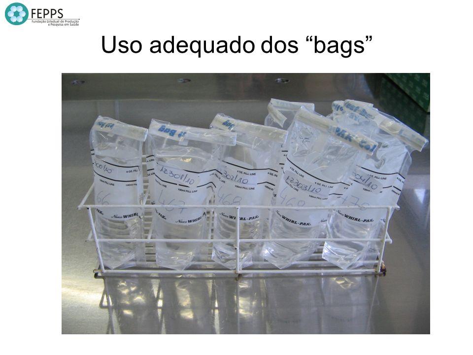 Uso adequado dos bags